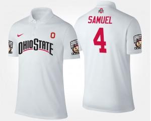 #4 Curtis Samuel Ohio State Buckeyes For Men Polo - White