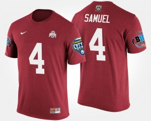 #4 Curtis Samuel Ohio State Buckeyes Bowl Game Men Big Ten Conference Cotton Bowl T-Shirt - Scarlet
