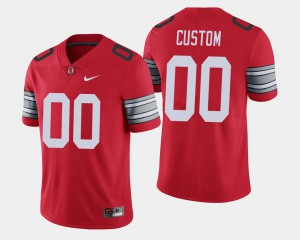 #00 Ohio State Buckeyes For Men 2018 Spring Game Limited Custom Jerseys - Scarlet