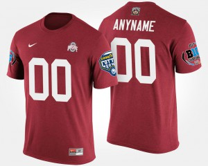 #00 Ohio State Buckeyes Big Ten Conference Cotton Bowl Bowl Game For Men's Custom T-Shirt - Scarlet
