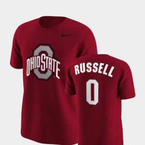 #0 D'Angelo Russell Ohio State Buckeyes Future Stars Men Replica T-Shirt - Scarlet