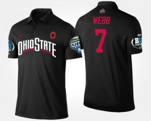 #7 Damon Webb Ohio State Buckeyes Big Ten Conference Cotton Bowl Bowl Game For Men's Polo - Black
