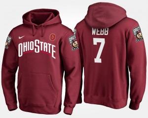 #7 Damon Webb Ohio State Buckeyes Mens Hoodie - Scarlet