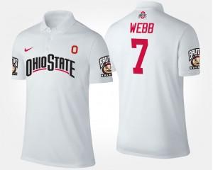 #7 Damon Webb Ohio State Buckeyes For Men Polo - White