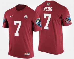 #7 Damon Webb Ohio State Buckeyes For Men Bowl Game Big Ten Conference Cotton Bowl T-Shirt - Scarlet