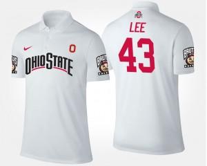 #43 Darron Lee Ohio State Buckeyes For Men's Polo - White