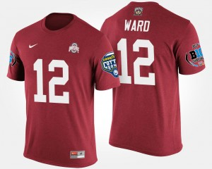 #12 Denzel Ward Ohio State Buckeyes Bowl Game Men Big Ten Conference Cotton Bowl T-Shirt - Scarlet