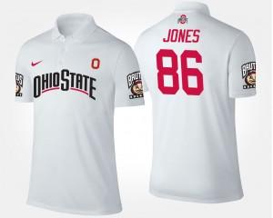 #86 Dre'Mont Jones Ohio State Buckeyes Men Polo - White