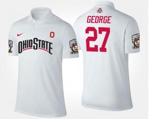 #27 Eddie George Ohio State Buckeyes For Men Polo - White