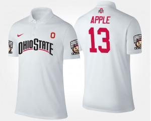 #13 Eli Apple Ohio State Buckeyes For Men Polo - White