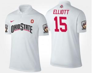 #15 Ezekiel Elliott Ohio State Buckeyes For Men Polo - White