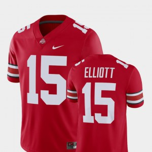 #15 Ezekiel Elliott Ohio State Buckeyes Men's Player Alumni Football Game Jersey - Scarlet