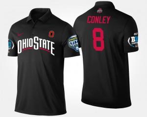 #8 Gareon Conley Ohio State Buckeyes Bowl Game For Men Big Ten Conference Cotton Bowl Polo - Black