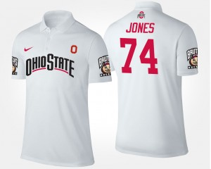 #74 Jamarco Jones Ohio State Buckeyes Men's Polo - White