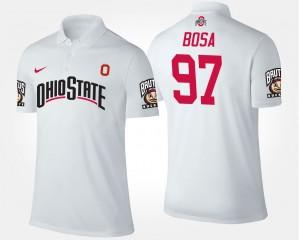 #97 Joey Bosa Ohio State Buckeyes Mens Polo - White