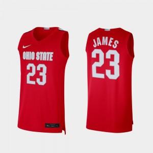 #23 LeBron James Ohio State Buckeyes Alumni Limited Men Jersey - Scarlet