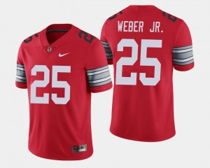 #25 Mike Weber Ohio State Buckeyes 2018 Spring Game Limited Mens Jersey - Scarlet