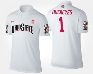 #1 Ohio State Buckeyes Men No.1 Short Sleeve Polo - White