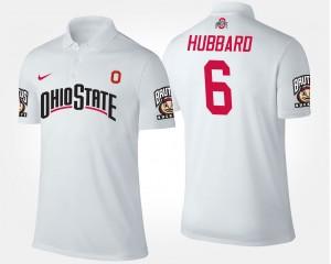 #6 Sam Hubbard Ohio State Buckeyes Men Polo - White
