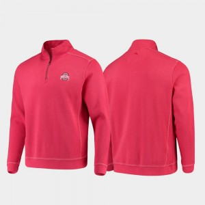 Ohio State Buckeyes College Sport Nassau Men's Half-Zip Pullover Tommy Bahama Jacket - Scarlet