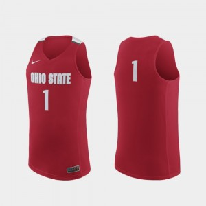 #1 Ohio State Buckeyes Men Replica College Basketball Jersey - Scarlet