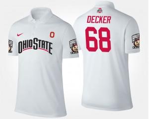 #68 Taylor Decker Ohio State Buckeyes Mens Polo - White
