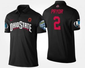 #2 Terrelle Pryor Ohio State Buckeyes Bowl Game Big Ten Conference Cotton Bowl Mens Polo - Black