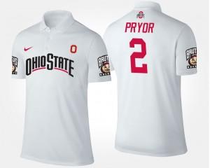 #2 Terrelle Pryor Ohio State Buckeyes Mens Polo - White