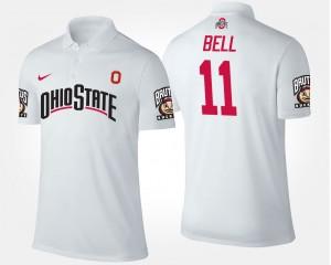 #11 Vonn Bell Ohio State Buckeyes For Men Polo - White