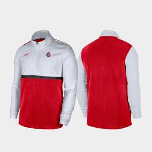 Ohio State Buckeyes Quarter-Zip Pullover Color Block For Men's Jacket - White Scarlet