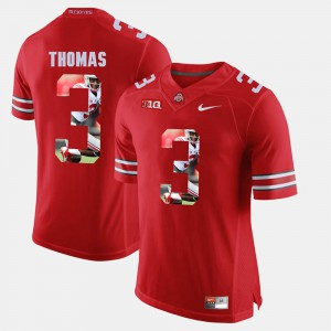 #3 Michael Thomas Ohio State Buckeyes For Men's Pictorial Fashion Jersey - Scarlet