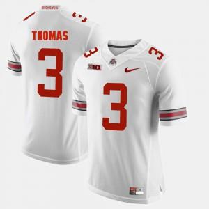 #3 Michael Thomas Ohio State Buckeyes Alumni Football Game Men's Jersey - White