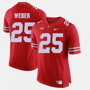 #25 Mike Weber Ohio State Buckeyes Alumni Football Game For Men's Jersey - Scarlet