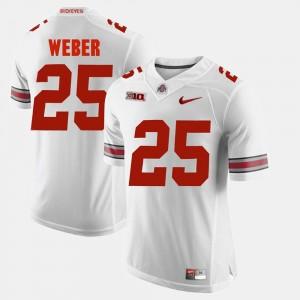 #25 Mike Weber Ohio State Buckeyes Alumni Football Game For Men Jersey - White