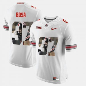 #97 Nick Bosa Ohio State Buckeyes Pictorial Fashion Men Jersey - White