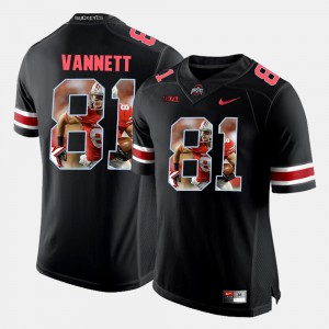 #81 Nick Vannett Ohio State Buckeyes Pictorial Fashion For Men Jersey - Black