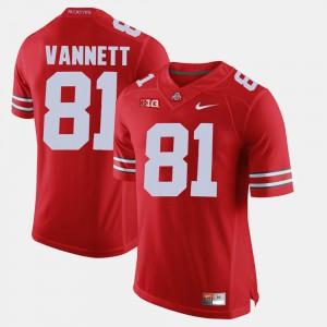 #81 Nick Vannett Ohio State Buckeyes Alumni Football Game Mens Jersey - Scarlet