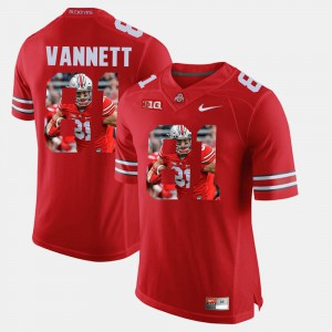 #81 Nick Vannett Ohio State Buckeyes For Men's Pictorial Fashion Jersey - Scarlet