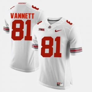 #81 Nick Vannett Ohio State Buckeyes Men Alumni Football Game Jersey - White
