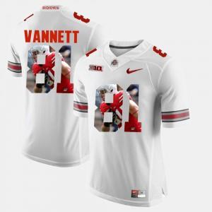 #81 Nick Vannett Ohio State Buckeyes Pictorial Fashion Men's Jersey - White