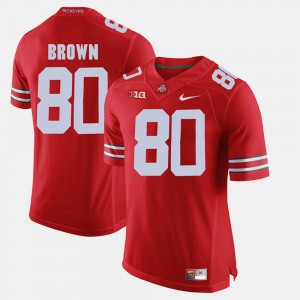 #80 Noah Brown Ohio State Buckeyes Alumni Football Game For Men Jersey - Scarlet