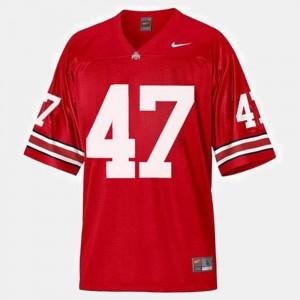 #47 A.J. Hawk Ohio State Buckeyes Men College Football Jersey - Red