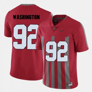 #92 Adolphus Washington Ohio State Buckeyes College Football Mens Jersey - Red