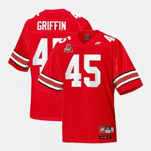 #45 Archie Griffin Ohio State Buckeyes College Football For Kids Jersey - Red