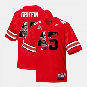 #45 Archie Griffin Ohio State Buckeyes For Men's Throwback Jersey - Scarlet