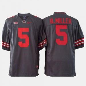 #5 Braxton Miller Ohio State Buckeyes Men's College Football Jersey - Gray