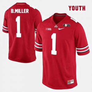 #1 Braxton Miller Ohio State Buckeyes For Kids College Football Jersey - Red
