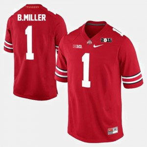 #1 Braxton Miller Ohio State Buckeyes College Football For Men's Jersey - Red