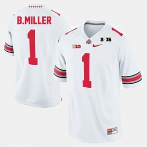 #1 Braxton Miller Ohio State Buckeyes College Football For Men Jersey - White