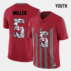 #5 Braxton Miller Ohio State Buckeyes Pictorial Fashion Youth Jersey - Red
